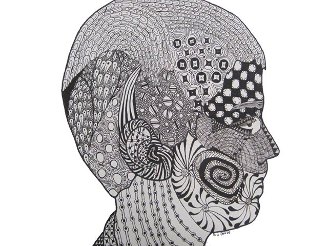Zentangle head