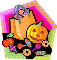 Halloween candy artwork