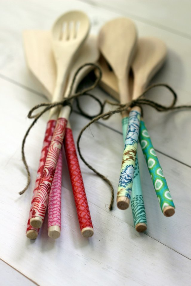 fabric covered spoons