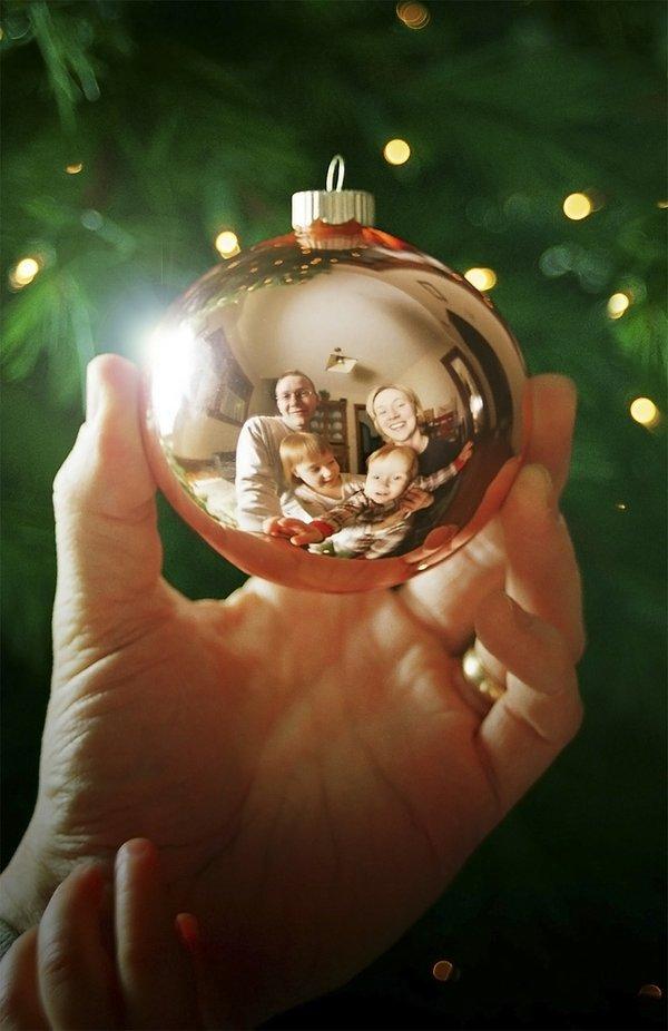 Reflections Christmas card photo