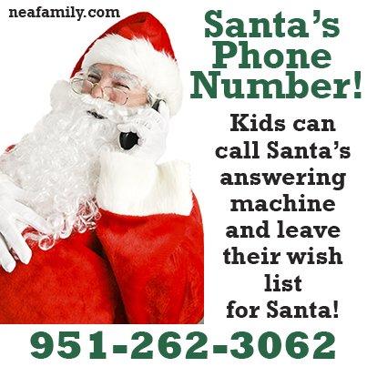 Santa's answering machine number
