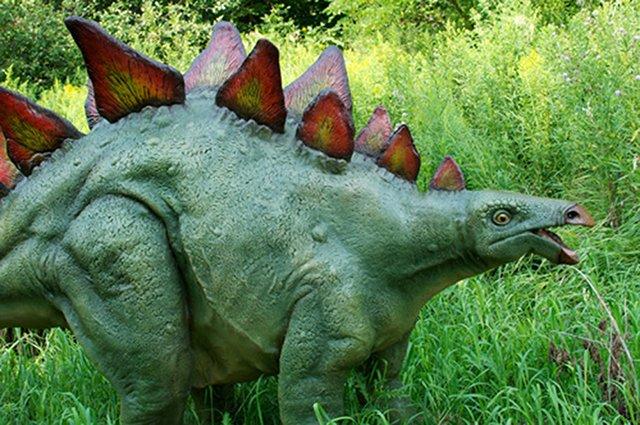 Dinosaur in the garden