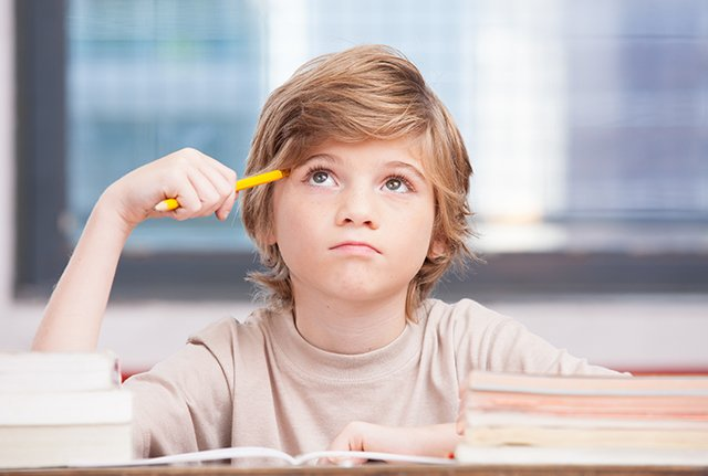 Collier County boy taking standardized test