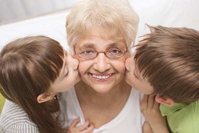 Great-grandmother with Grandchildren