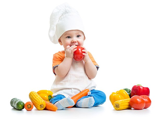 Toddler with Vegetables