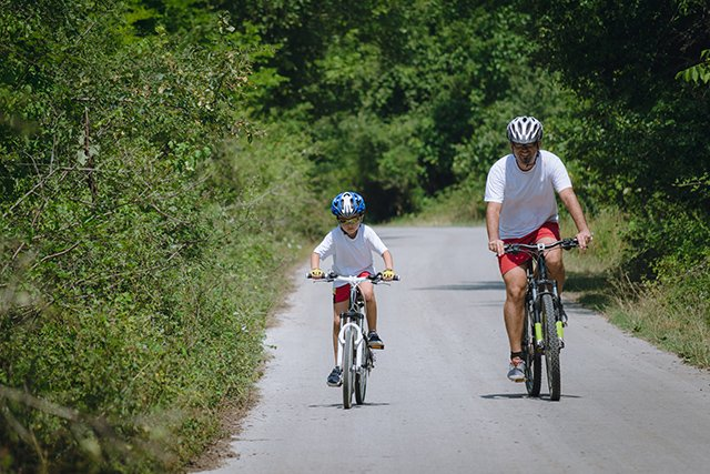 bicycle riding in North Collier Regional Park