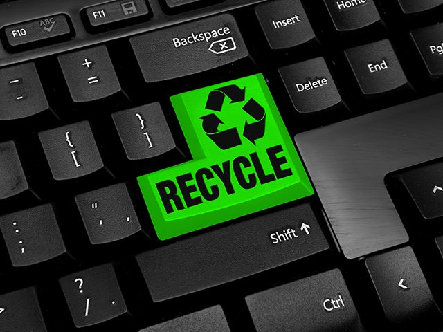 Recycle on computer key