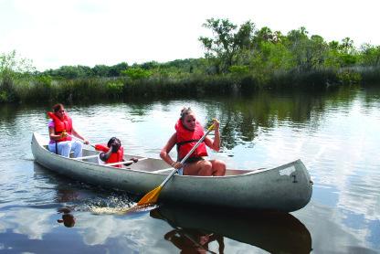 scouts in canoe