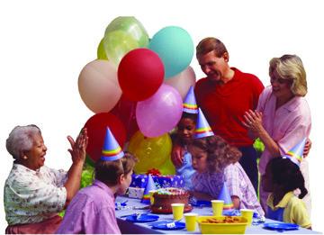 family at bday party