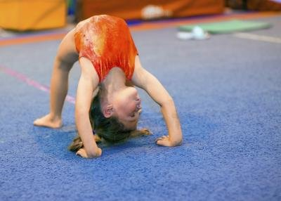 Girl doing backbend