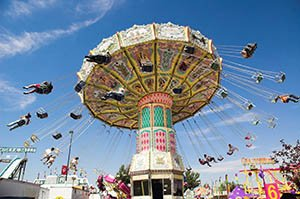 Fair midway ride swing