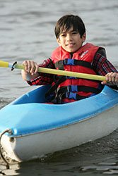 boy kayak