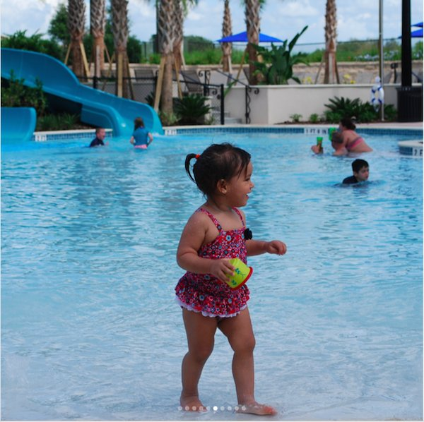 Little girl pool