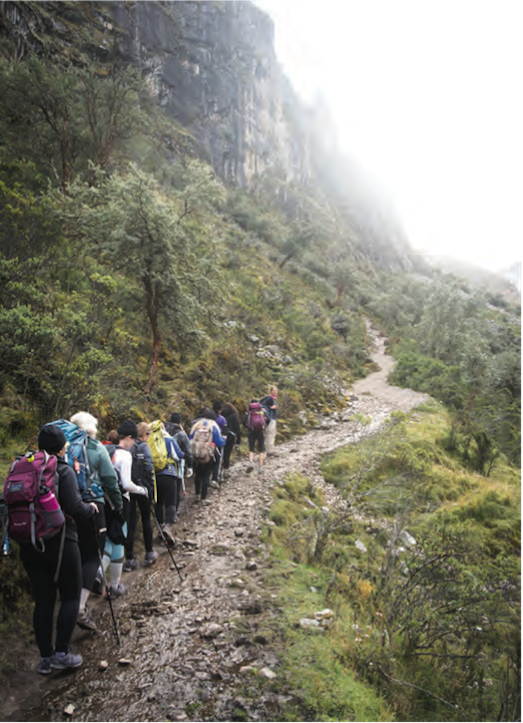 Wellfit Girls Hiking the Lares Trail in Peru