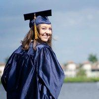Author Rebecca Barton during her Naples High School graduation