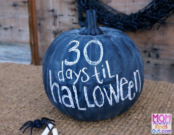 Chalk pumpkin