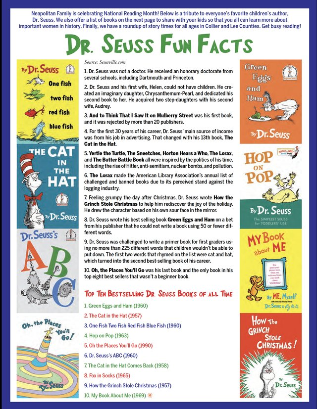 Dr. Seuss February 2019 issue