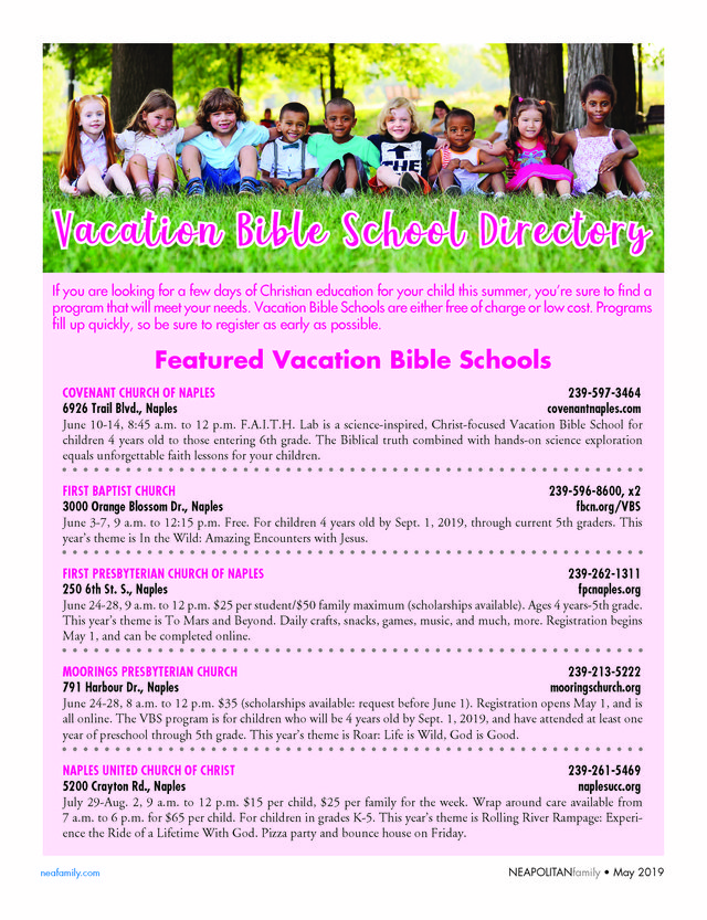 Vacation Bible School Directory - neafamily com