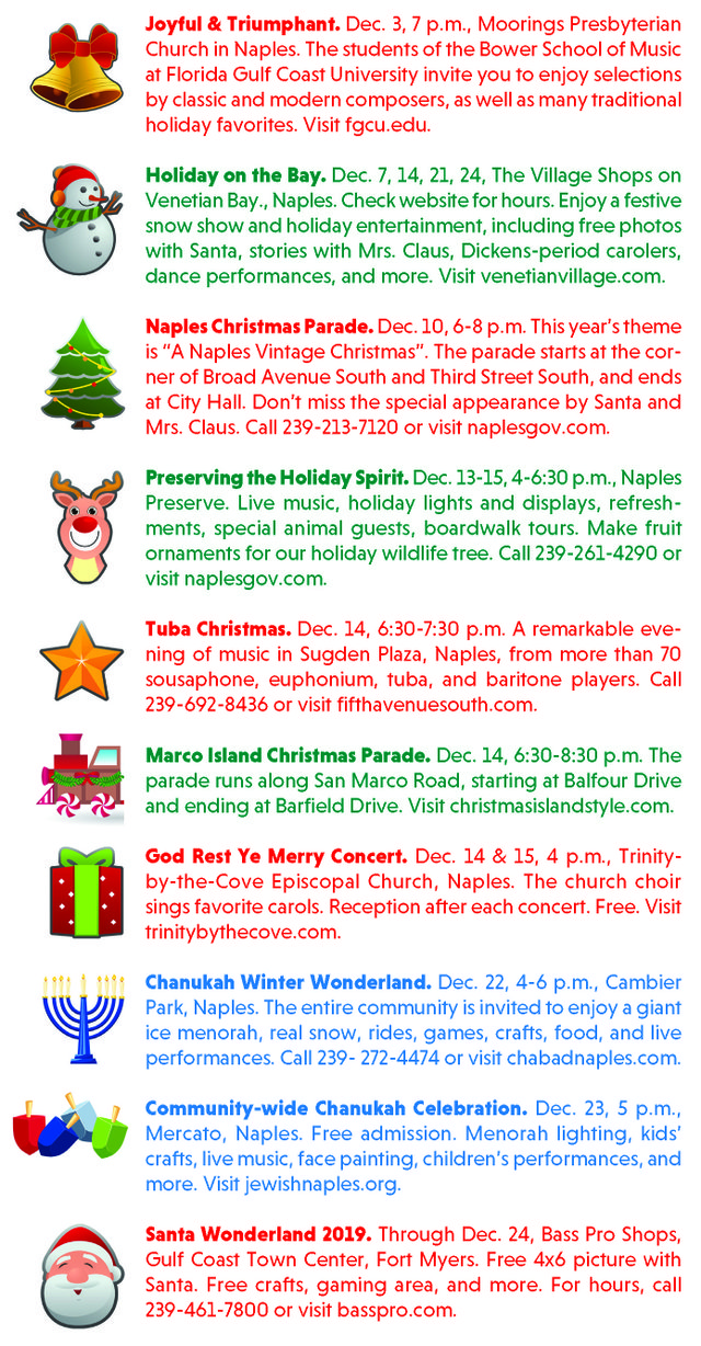 Free Holiday Events 2019
