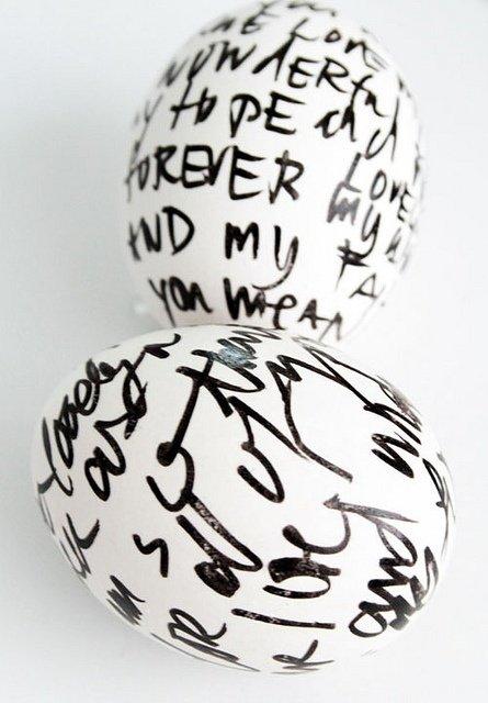sharpie journal eggs