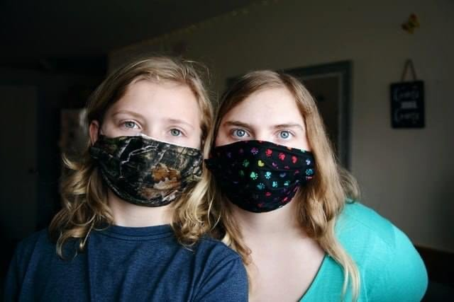 Girls with masks