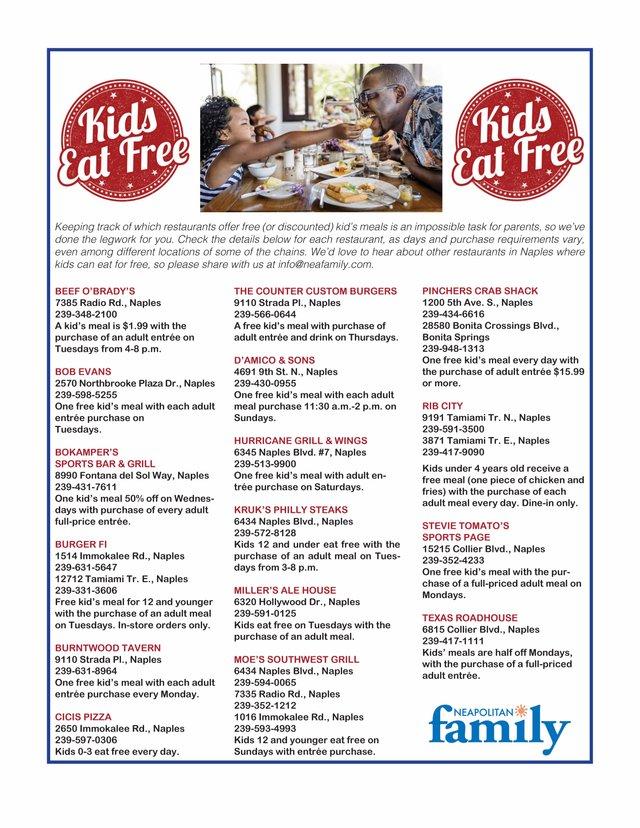 Kids Eat Free 2020