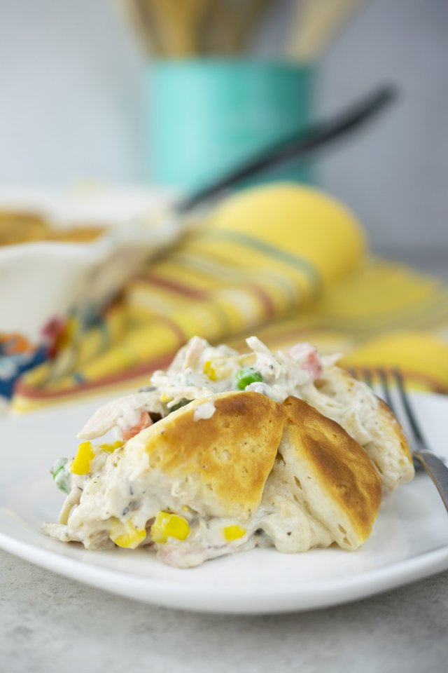 Rotisserie Chicken Biscuit Casserole