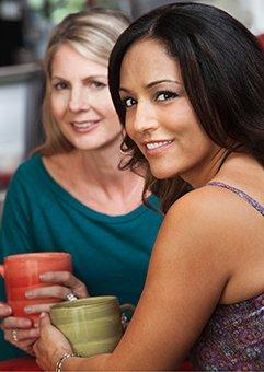 female friends having drink
