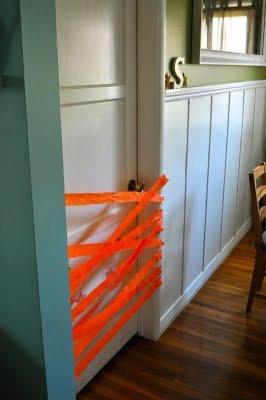 crepe paper door