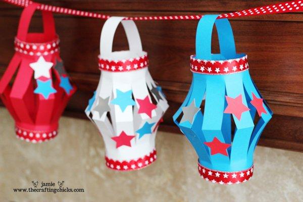 small paper lanterns