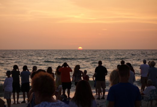 sunset at naples beach hotel concert