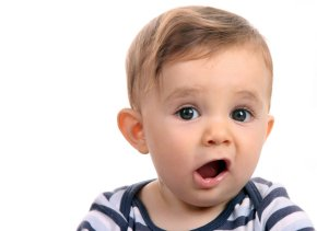 baby with mouth open