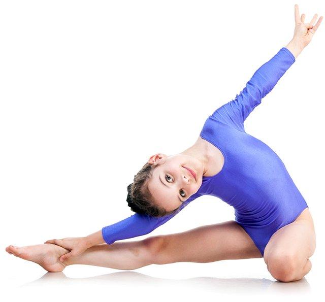 gymnast in purple