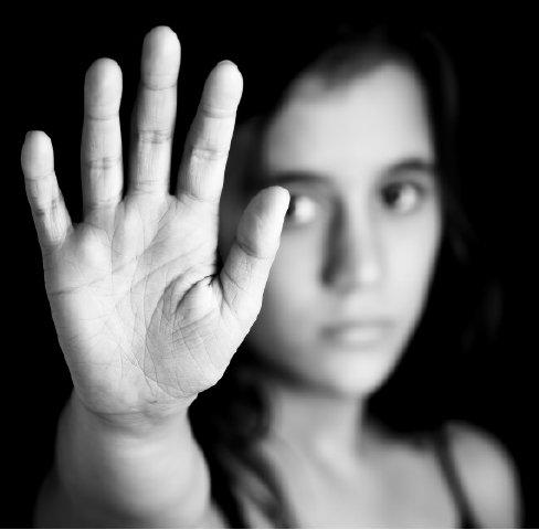 bullying hand up photo