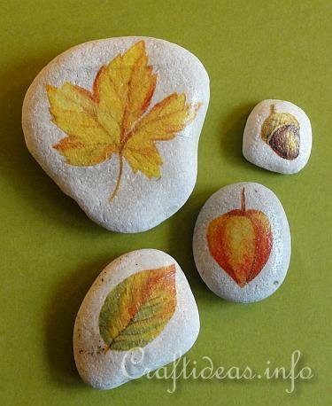 fall stone leaves
