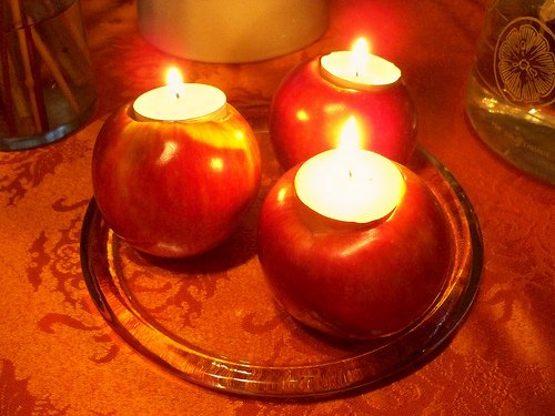 8. apple candle holders