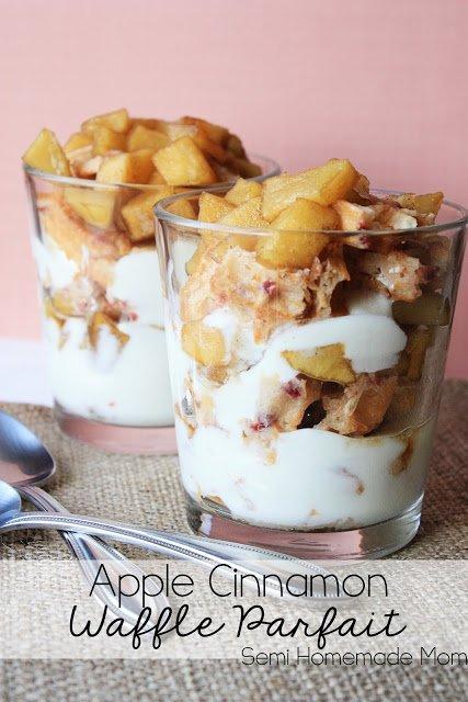 9. apple cinnamon waffle parfait