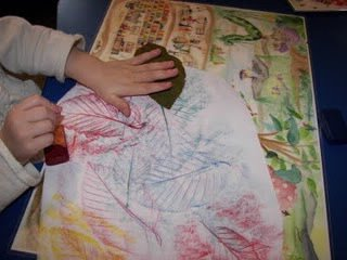 24. leaf rubbings