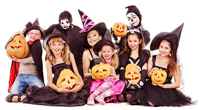 Halloween group isolated