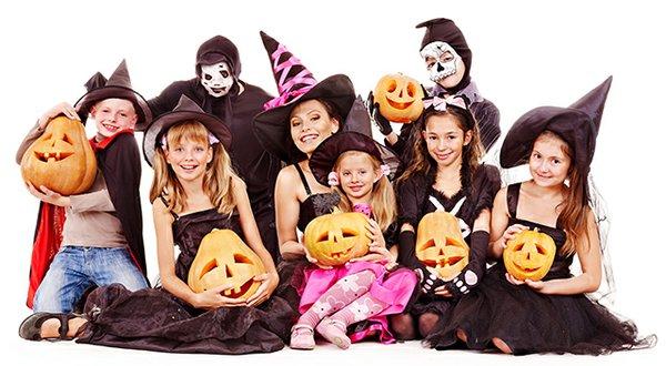Halloween group isolated