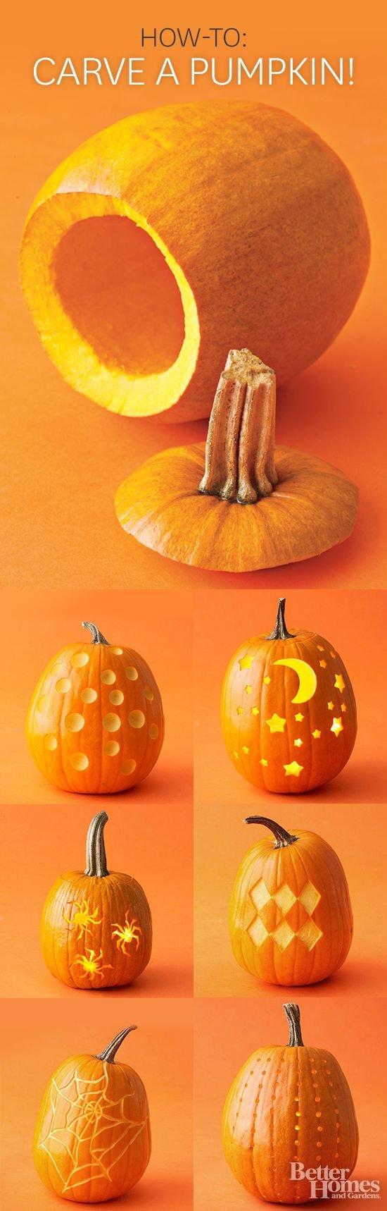 how to carve a pumpkin