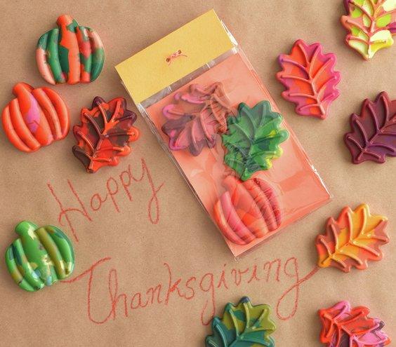 leaf shaped crayons