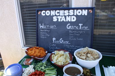 Concession stand sign for football party