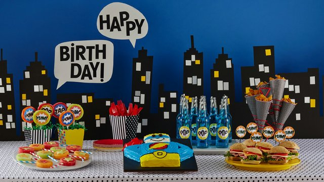 Superhero Birthday Party Food