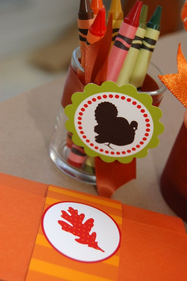 crayon votive for Thanksgiving