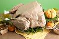paper bag turkey centerpiece for Thanksgiving