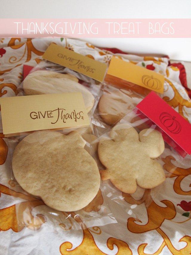 Thanksgiving treat bag