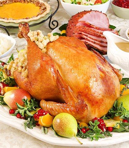 turkey on table