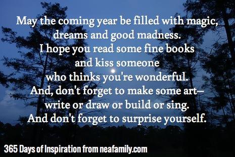 May the coming year