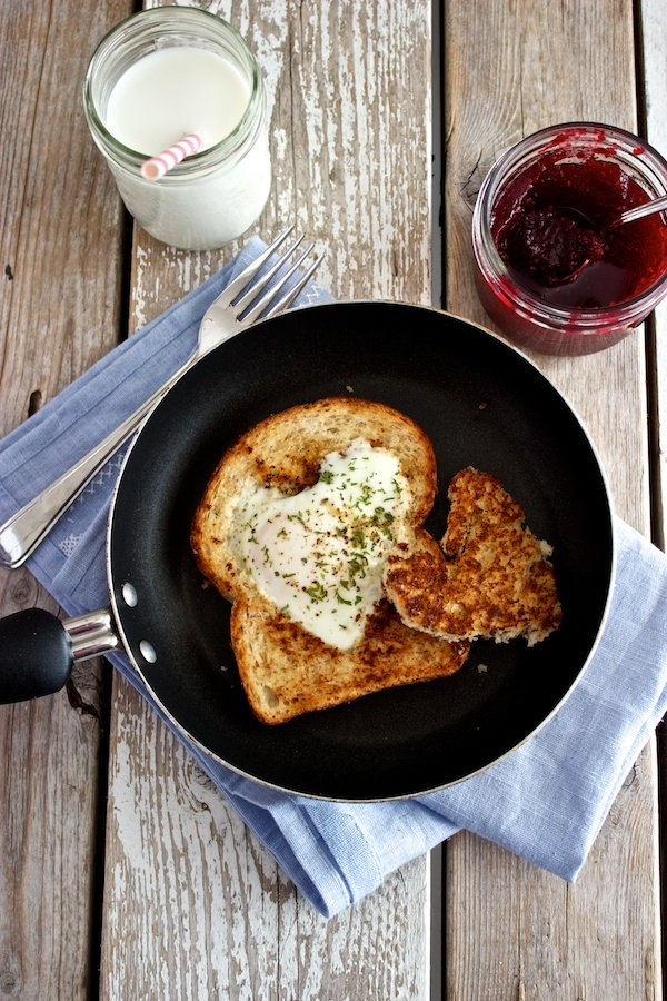 Valentine's Day Egg in a Heart